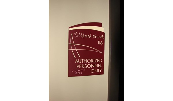 ADA017 - Custom ADA & Wayfinding for Religious Organizations