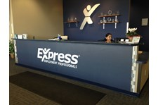 - Image360-Burlington-WA-ReceptionDesk-Graphics-Vinyl-ExpressEmploymentProfessionals-MountVernon, WA